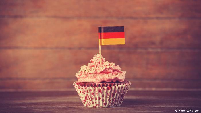 Kuchen mit Deutschlandfahne