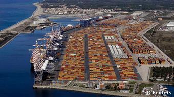 Italien Hafen von Gioia Tauro