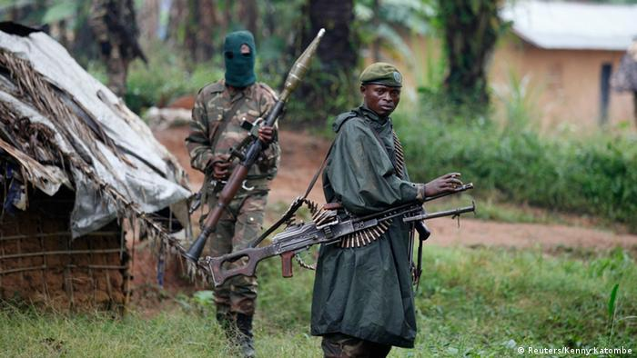 DRC government forces hunting rebels from the Ugandan ADFNalu group in North-Kivu province in 2013