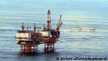 Chinesische Ölplattform im Ostchinesischem Meer