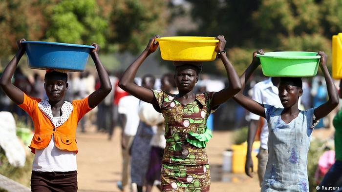 Konflikt im Südsudan Flüchtlinge 17.01.2014