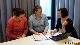 Studentinnen der Gruppe tun.starthilfe für Flüchtlinge (Foto: Erika Riksen)