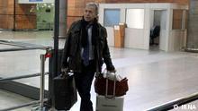 Deputy Director General of IAEA Department of safeguards Massimo Aparo arrived in Tehran on Saturday mornning (18.1.2014). Quelle: IRNA via Habib Husseinifard, DW Farsi