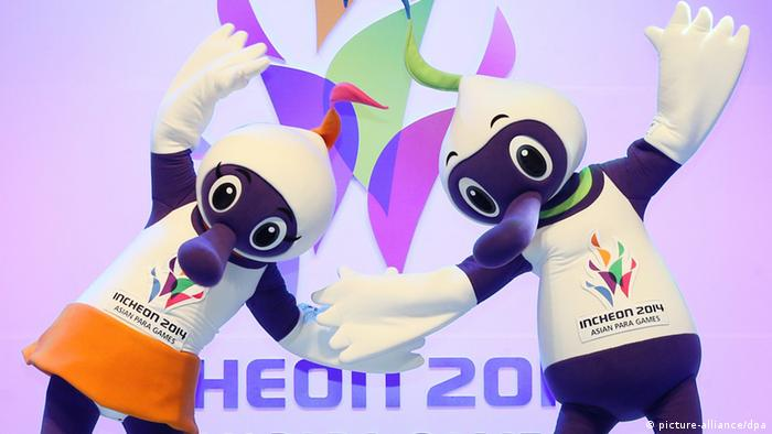 Maskottchen Incheon 2014 Asian Para Games