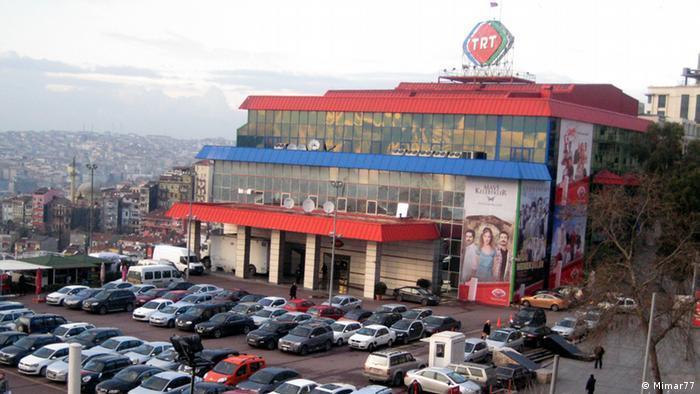 Sitz des türkischen Staatsfernsehens TRT in Mesrutiyet Street Istanbul Türkei.