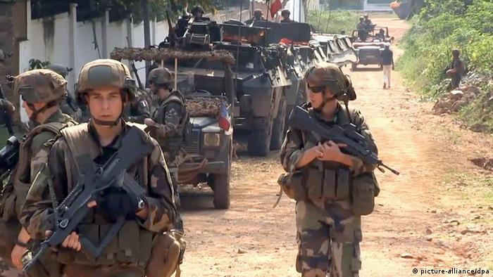 French troop convoy in Central African Republic