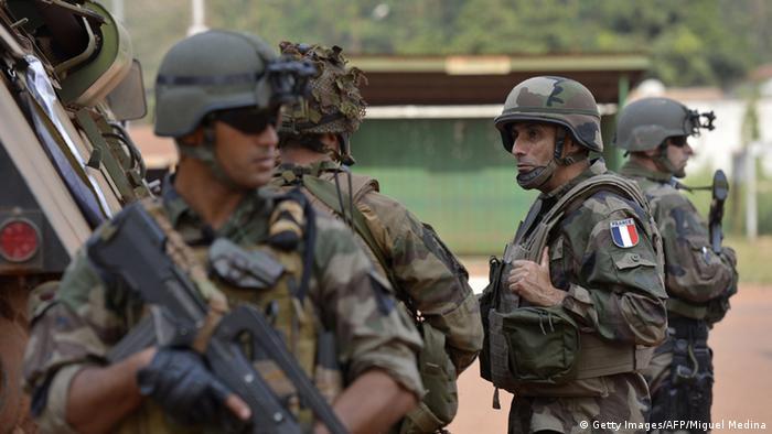 Французские солдаты в Центральноафриканской Республике