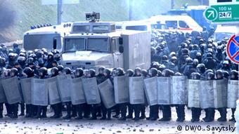 Подразделения солдат внутренних войск в Киеве
