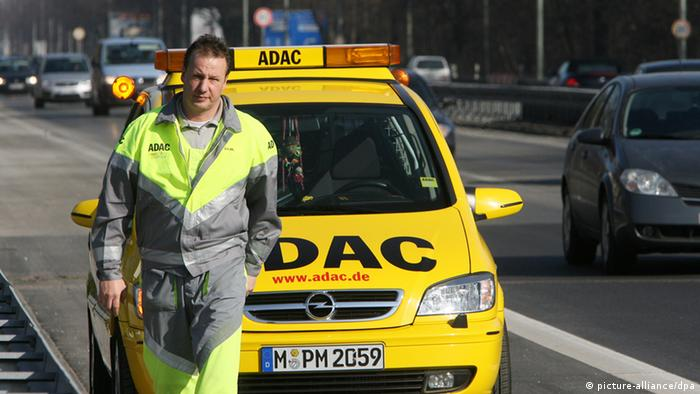 Желтый ангел - так называет свои машины технической помощи ADAC