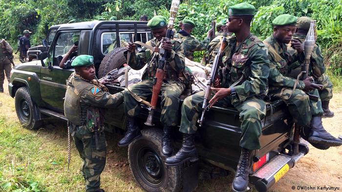 Soldiers from the Congolese army