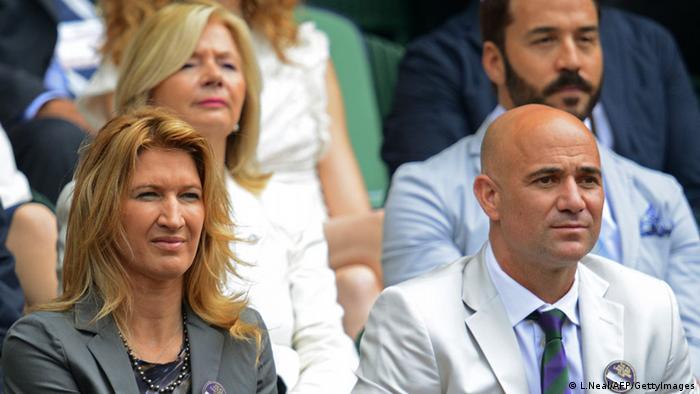 Sreffi Graf und Andre Agassi (L.Neal/AFP/GettyImages)