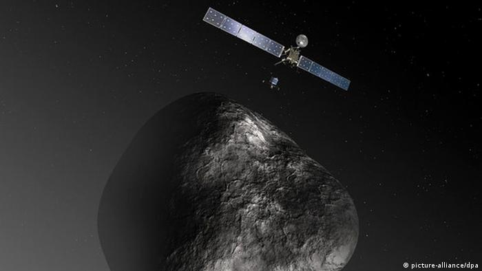 One of the most talked about - and current - ESA missions is Rosetta. After a ten-year flight, it's hoped Rosetta will drop its Philae lander on the comet 67P/Churyumov-Gerasimenko to get a closer look. It will be a tricky little number!