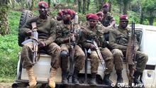 Kongo Soldaten in Ostkongo