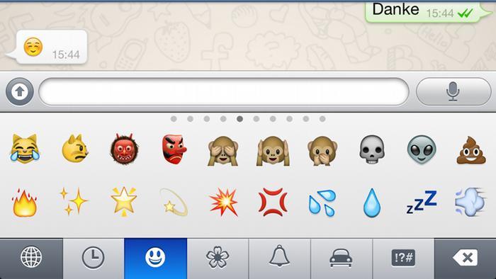 Emojis on a smartphone