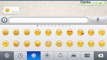 Screenshot von Emojis auf einem Smartphone