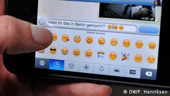 Smartphone emoticons on Whatsapp