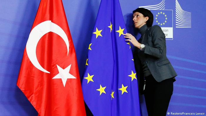 The EU and Turkish flags