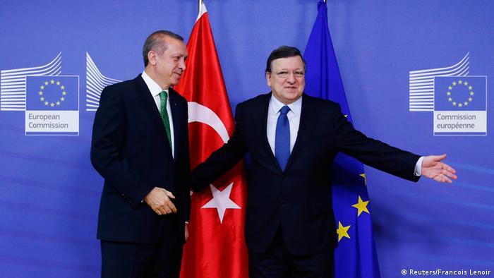 Turkish Prime Minister Erdogan, visiting European Commission head Jose Manuel Barroso