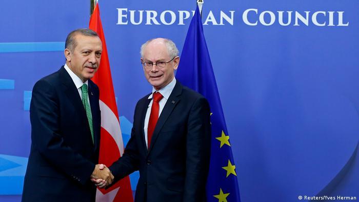 Besuch des türkischen Premiers Tahib Erdogan bei der EU-Kommission (Reuters/Yves Herman)