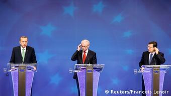 Erdogan, Van Rompuy and Barroso speak