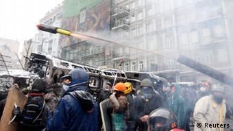 Demonstration und Proteste in Kiew 22.01.2014