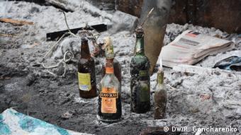 Molotow-Cocktails auf Kiews Straßen (Foto: DW)