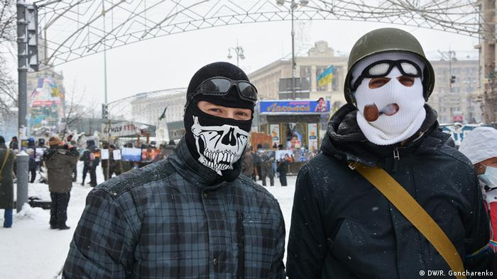 Demonstration und Proteste in Kiew 22.01.2014