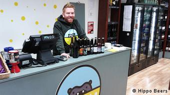 Derek Hoy at Hippo Beers in Glasgow, Photo: Hippo Beers