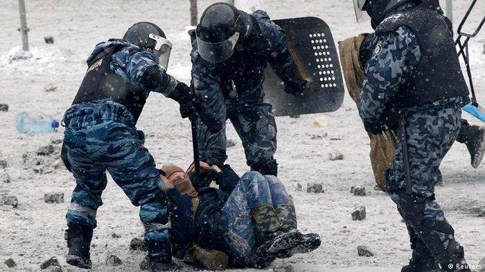 Побиття демонстрантів у Києві, Євромайдан, Беркут