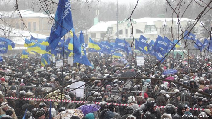 Pro-government rally in Kharkiv (Photo: DW, Olexandra Induchowa)