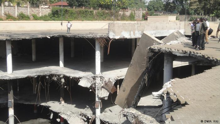 A scene at Westgate's car-park mall in Nairobi which was destroyed during the 2013 al-shabab attack