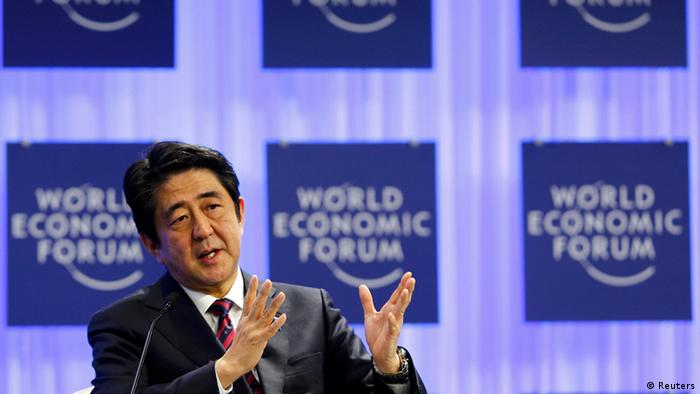 Schweiz Japan World Economic Forum 2014 Shinzo Abe (Reuters)