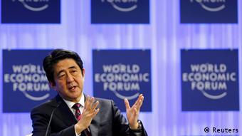 Schweiz Japan World Economic Forum 2014 Shinzo Abe