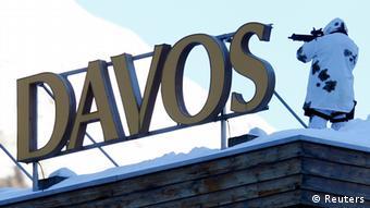 Sjaperist na kongresnom centru u Davosu