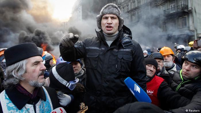 Oppositionsführer Klitschko auf dem Maidan (REUTERS/Vasily Fedosenko)