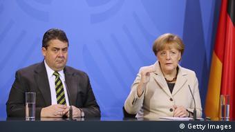Merkel und Gabriel Abschluss-PK 23.01.2014 Meseberg
