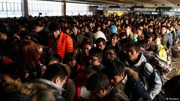 China Frühlingsfest Reiseverkehr