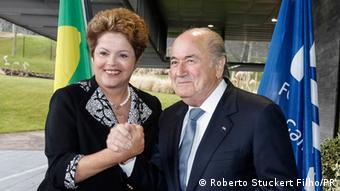 Dilma Rousseff and Sepp Blatter