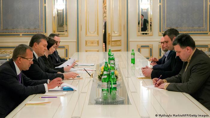 Під час другого раунду переговорів Януковича з лідерами опозиції