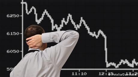 Symbolbild Börsenverlauf nach unten