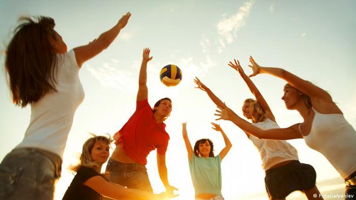 Volleyball Strand Gegenlicht