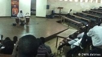 Storytelling Performance by Usifu Jalloh in Siera Leone.