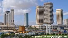 ©Kyodo/MAXPPP - 03/10/2011 ; TRIPOLI, Libya - Photo taken Sept. 8, 2011, shows an urban district in Tripoli with high rise buildings. The city has prospered as the capital of an oil producing state. (Kyodo)