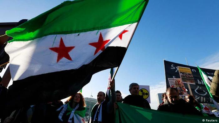 Genf / Syrien-Konferenz / Demonstranten / Exilsyrer