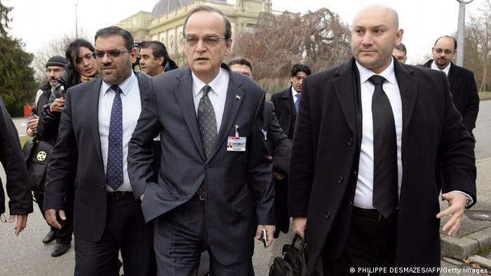 Representatives of the Syrian opposition on site in Geneva (c) AFP/Getty