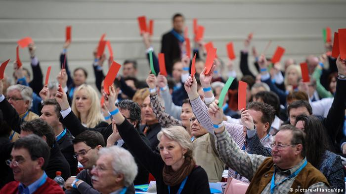 AfD members in a voting session