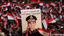 Ägypten Demonstration Plakat General Abdel Fattah al-Sisi