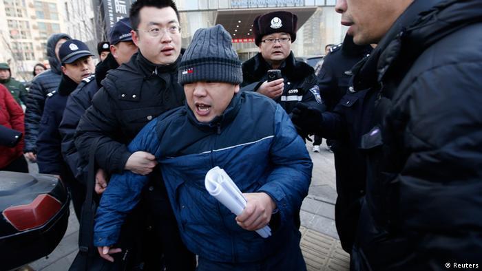 Zhang Qingfang Anwalt von Xu Zhiyong Bürgerrechtler in China 26.01.2014 (Reuters)