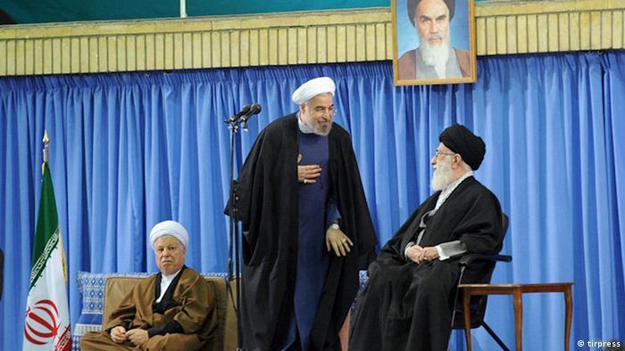 Khamenei, Rohani, Rafsanjani