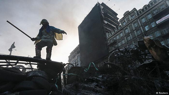 Ukraine Kiew Protest Demonstrant 27.1.2014